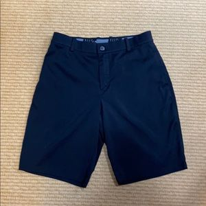 Nike Black Golf Flat Front Shorts Size 32